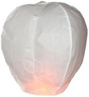 ByCue White Paper Sky Lantern (86 Cm X 56 Cm, Pack Of 30)