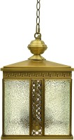 Hanging Light Gold Brass Lantern (46 Cm X 42 Cm, Pack Of 1)