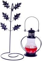 My Art Peppy Red Glass, Iron Lantern (26 Cm X 10 Cm, Pack Of 1)