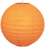 Skycandle 14″ Orange Even Ribbing Round Paper Lantern (Orange, Pack Of 1)