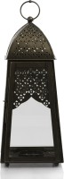 Ninety One Degree Royal Touch Black Moroccan Black Iron Lantern (40 Cm X 16 Cm, Pack Of 1)
