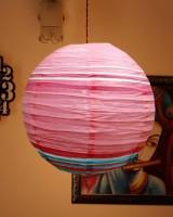 Elegance Pink, White, Blue Paper Lantern (40 Cm X 40 Cm)