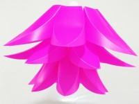 Singh Xpress Lotus Shaped- IQ Card- Decorative Lights - Pendant Lighting - DIY Cards Kit Plastic Medium Size- Hanging Lights Pink Plastic Lantern (20.32 Cm X 33.02 Cm, Pack Of 1)