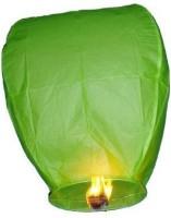 Skycandle Green Paper Sky Lantern (80 Cm X 45 Cm, Pack Of 15)