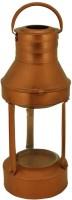 Triston Home Brown Iron, Glass Lantern (45 Cm X 18 Cm, Pack Of 1)