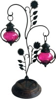 The Woods Hut Pink Iron Lantern (55.88 Cm X 20.32 Cm, Pack Of 1)
