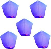Funcart Purple Paper Lantern (73.66 Cm X 53.34 Cm, Pack Of 5)