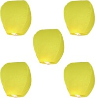 Skycandle Paper Sky Lantern (Yellow, Pack Of 20)