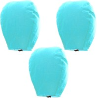 Indiangiftemporium Beautiful Set Of 3 Turquoise Paper Sky Lanterns 303 Blue Paper Sky Lantern (80 Cm X 45 Cm, Pack Of 6)