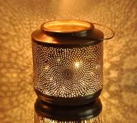 Logam Rome Copper Antique Multicolor Iron Lantern (23 Cm X 23 Cm, Pack Of 1)