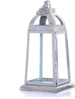 Ninety One Degree Rectangle Pillar Steel Stainless Steel Lantern (56 Cm X 26 Cm)