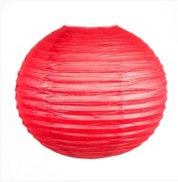 Dhol Dhamaka Paper Lantern (Red, Pack Of 1)