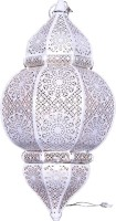 Sutra Decor White Glass Lantern (24 Cm X 10.25 Cm, Pack Of 1)