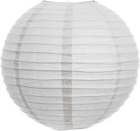Skycandle 10″ White Even Ribbing Round Paper Lantern (White, Pack Of 1)