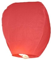 Dhol Dhamaka Paper Sky Lantern (Red, Pack Of 5)