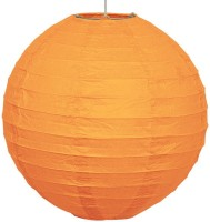 Skycandle 10″ Orange Round Paper Craft Paper Lantern (Orange, Pack Of 2)