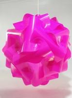 Singh Xpress Ball Shaped- IQ Cards - Decorative Lights - Pendant Lighting - DIY Cards Kit Plastic Large Size - Hanging Lights Pink Plastic Lantern (33.02 Cm X 33.02 Cm, Pack Of 1)