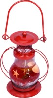 Skys&Ray Red Glass Lantern (13 Cm X 5 Cm, Pack Of 1)