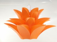 Singh Xpress Lotus Shaped- IQ Card- Decorative Lights - Pendant Lighting - DIY Cards Kit Plastic Medium Size- Hanging Lights Orange Plastic Lantern (20.32 Cm X 33.02 Cm, Pack Of 1)
