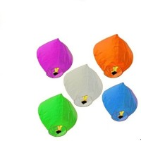 Glow Lanterns Paper Sky Lantern (Multicolor, Pack Of 5)
