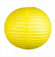 Dhol Dhamaka Paper Lantern (Yellow, Pack Of 1)