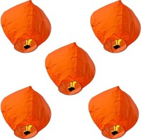 Skycandle Paper Sky Lantern (Orange, Pack Of 10)