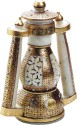 Aapno Rajasthan Hand Crafted Gold Paint And Kundan Work Marble Lantern - Multicolor, Pack Of 1