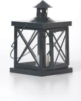 Goyal India Black Iron, Glass Lantern (20 Cm X 13 Cm, Pack Of 1)