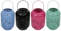 Sutra Decor Decorative Candle Holder Multicolor Iron Lantern (27.5 Cm X 17.5 Cm, Pack Of 4)