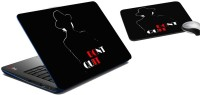 MeSleep Don't Quit Laptop Skin And Mouse Pad 288 Combo Set (Multicolor)