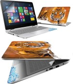 FineArts Tiger Ice 4 in 1 Laptop Skin Pack with Screen Guard, Key Protector and Palmrest Skin