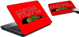 meSleep Nope Laptop Skin And Mouse Pad 272 Combo Set
