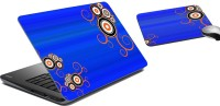 MeSleep Abstract Laptop Skin And Mouse Pad 91 Combo Set (Multicolor)