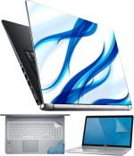 FineArts Blue Art 4 in 1 Laptop Skin Pack with Screen Guard, Key Protector and Palmrest Skin