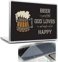 Headturnerz Black Background Beer Is A Proof That God Loves Us And Wants Us To Be Happy Combo Set - Multicolor