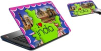 MeSleep I Love India Laptop Skin And Mouse Pad 173 Combo Set (Multicolor)