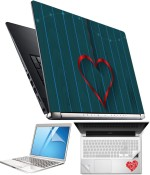 FineArts Heart H072 4 in 1 Laptop Skin Pack with Screen Guard, Key Protector and Palmrest Skin