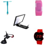 bigkik USB FAN+ LED WATCH+ 3D PHONE SCREEN+ MOBILE HOLDER+ LED WATCH