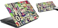 MeSleep Graffiti Laptop Skin And Mouse Pad 54 Combo Set (Multicolor)