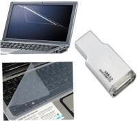 QP360 Laptop Screen Guard&Keyboard Skin 15.1inch,Card Reader Combo Set (Transparent, White)