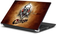 Namo Art Skull With Knifes With Laptop Key Protector Combo Set (Multicolor)