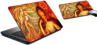 MeSleep Colonial Lady Laptop Skin And Mouse Pad 149 Combo Set (Multicolor)