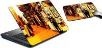 MeSleep Yellow Man City Laptop Skin 230 Combo Set (Multicolor)
