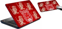 MeSleep Red Lion Laptop Skin 190 Combo Set (Multicolor)