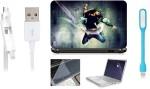Print Shapes Jump Laptop Skin,keyboard & screen protector,Key Guard,usb led & charging data cable