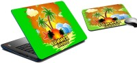 MeSleep Summer Sundays Laptop Skin And Mouse Pad 167 Combo Set (Multicolor)