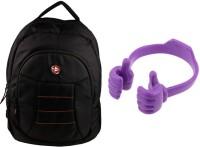 QP360 Laptop Bag And Ok Holder For Iphone Combo Set (Black, Purple)