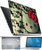 FineArts Hello Kitty 4 in 1 Laptop Skin Pack with Screen Guard, Key Protector and Palmrest Skin