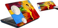 MeSleep Stars Wars Print Laptop Skin And Mouse Pad 294 Combo Set (Multicolor)