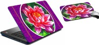MeSleep Purple Rose Laptop Skin 203 Combo Set (Multicolor)